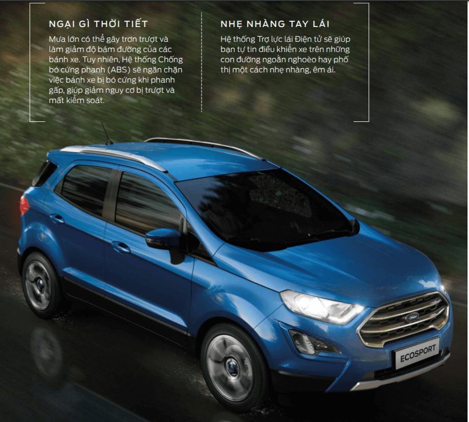 Ford Ecosport dễ dàng vận hành trên mọi thời tiết