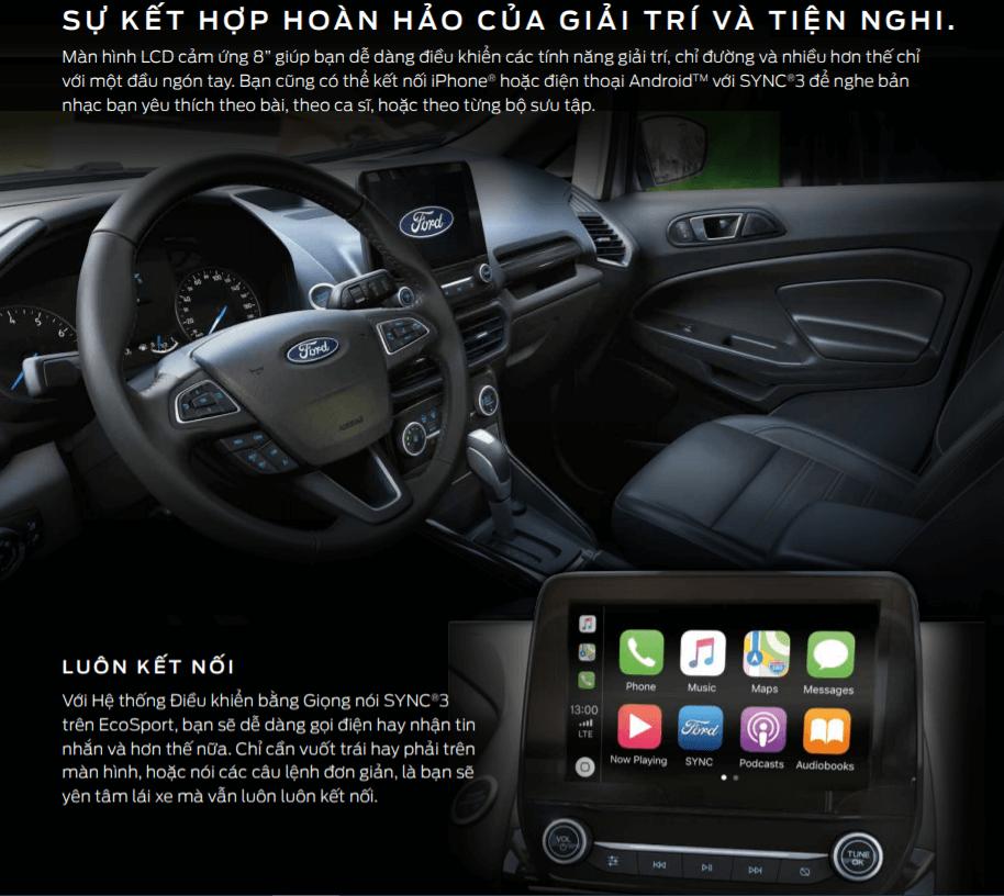 Ford Ecosport option tiện ích đầy đủ